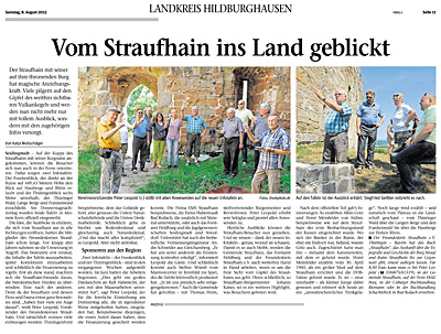 August 2015 – EMS Straufhain ist Sponsor für zwei Infotafeln auf der Kuppe des Straufhains