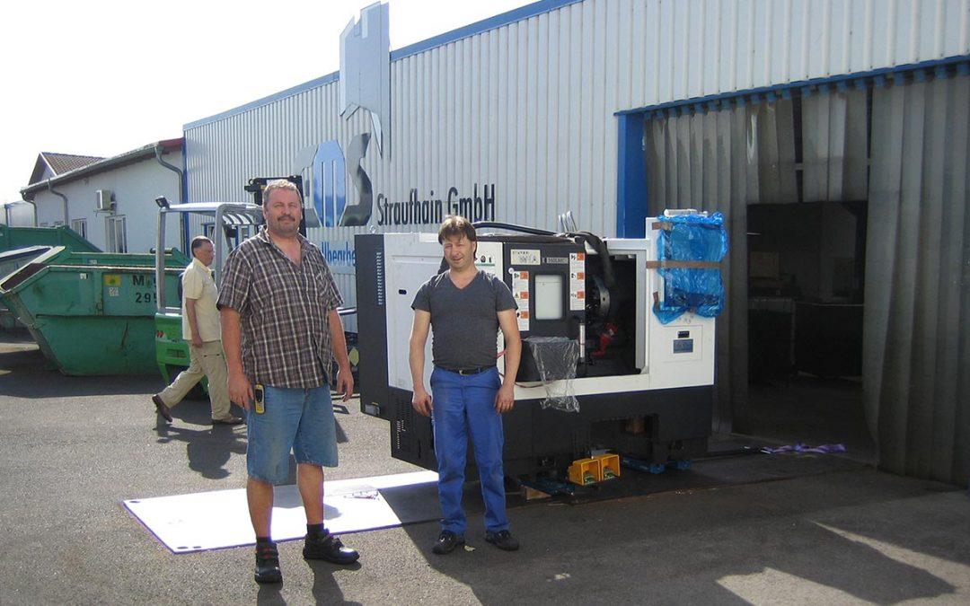 August 2018 – Anlieferung einer neuen CNC-Drehmaschine Hyundai Wia E160