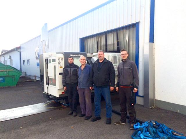 Oktober 2018 – Anlieferung einer neuen CNC Drehmaschine Nakamura WT 150